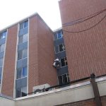 Buffalo State College South-Wing South-Wing-Dave-using-wall-tie-locator